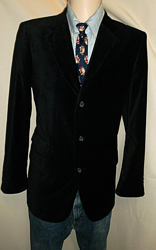 ID23 42R COTTON VELVET MERONA BLAZER Sport Coat Jacket MENS 25.5
