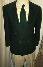 "D23 44 S 100% Camel Blass Db Blazer Sport Coat Jacket Mens 22.5"" Arm Dark Green - $154.63"