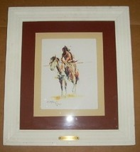 1903 CHARLES M. RUSSELL WARRIOR OF THE RAVENS ART PRINT - $386.99