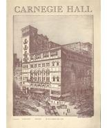 1944 OCTOBER 26-31st CARNEGIE HALL PROGRAM OPERA NYC - $55.49