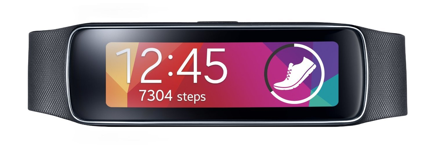 Samsung Gear Fit Fitness Tracker and Smartwatch for Samsung Devices (US Warranty