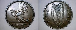 1942 Irish Penny World Coin - Ireland - $9.99