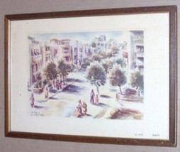 1952 DAVID GILBOA JUDAICA ART TEL AVIV ISRAEL LITHO - $289.49