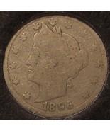 "1896 Liberty Head ""V"" Nickel G/AG #0667 - $6.29"