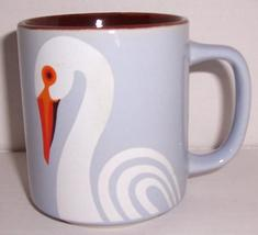 "1957 FITZ & FLOYD ""SWAN"" Exotic Bird Collection Porcelain Mug - $36.29"