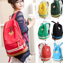 Fashion Women Cut Pig Nose Casual Candy Canvas Backpacks Travel bags Ruc... - $16.49
