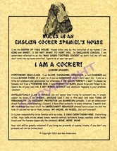 Rules In An English Cocker Spaniel's House - $20.70