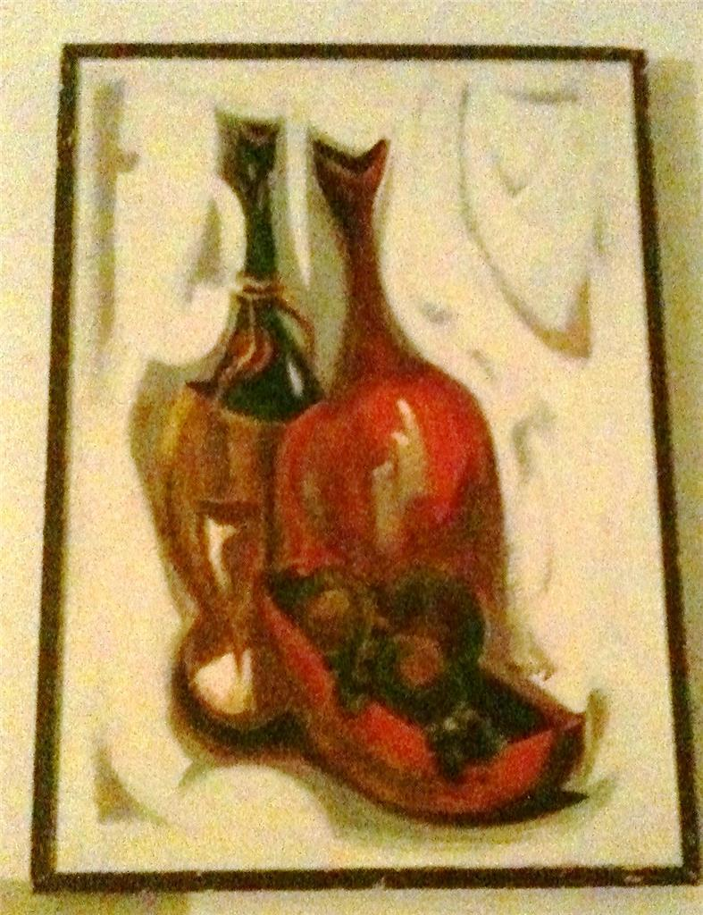 1960's Vintage Original, & Signed Jack Amoroso Lacquer Still Life Art Painting