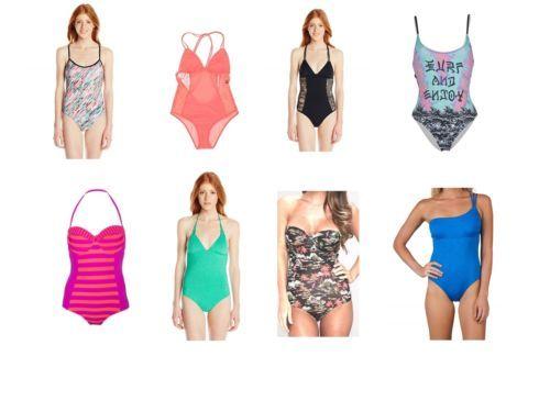 Hurley Swim Junior Women's Bathing Suit One-Piece Swimwear Fashion Styles NEW