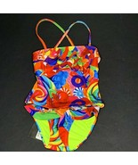 Dylans Candy Bar Ruffle 2 Piece Tankini Girls Size 2 Candy Collage Multi... - $34.64