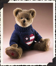"Boyds Bears ""Eli Q. Spangler"" #904441- 14"" Americana Bear- NWT- 2005- Retired - $29.99"