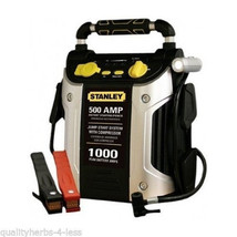 Stanley 1000 Amp Jump Starter W/ Air Compressor And Work Light Auto Car ... - $133.64