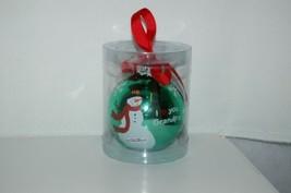 Ganz EX27946 I Love You Grandpa Snowman Christmas Ball Ornament Color Green image 1