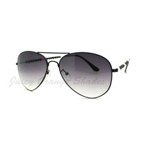 Womens Fashion Sunglasses Classic Aviators Beads Temple - $7.95
