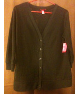 New Light Weight Black Cardigan Size 1x (runs S... - $10.99