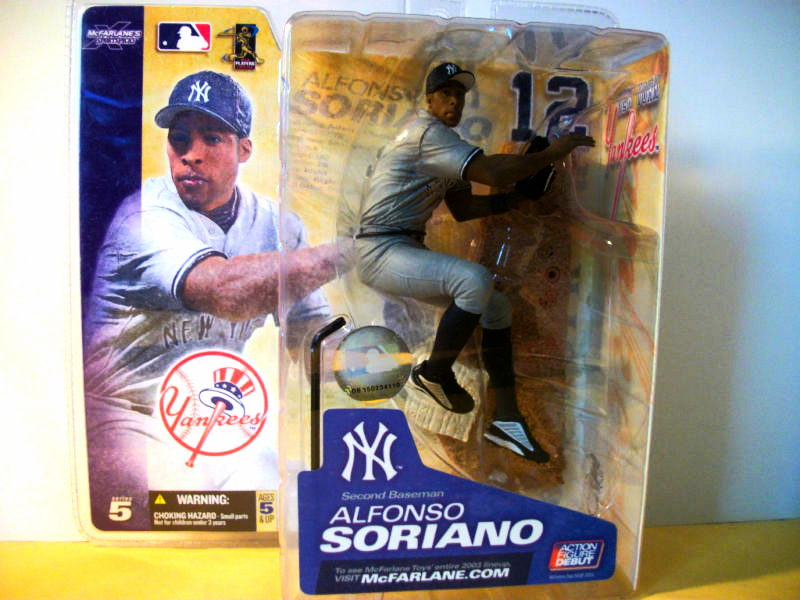 Primary image for MLB Action Figure Toy New York Yankees Baseball Alfonso Soriano Ball Collectible