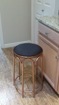 2 refurbished bronze and black 24 Inch Counter Stool, excellent condition - $150.00