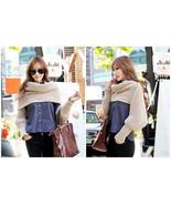 "96"" Long Solid Color Knit Sleeve Winter Scarf Shawl Crochet Warm Dual Pu... - $15.45"