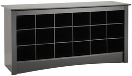 Black Storage Bench Entryway Cubbyhole Decor Bedroom Home Living Room Ha... - £132.37 GBP