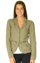 XS NWT Michael Stars Washed Linen Cargo Jacket Olive Green Tab Rolled 3/... - $49.49