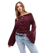 Free People Crazy On You Cropped Thermal Top Sweater XS - $39.59