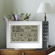 Wireless Weather Station With Temperature Humidity Barometer Atomic Alar... - $45.80