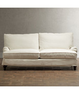 CHIC SHABBY FRENCH STYLE SLIPCOVERED SOFA,82'' W X 42''D X 35''H. - $1,975.05