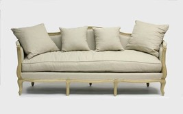 Stunning French Country Linen Feather Down Sofa,85'' x 28'' x 35.5''h. - $2,272.05