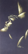 "1970's ""JESUS CHRIST ON THE CROSS"" VELVET CANVA... - $94.49"
