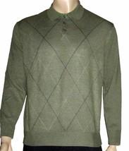Dockers $68 Men's Argyle Green Henley Sweater Large - $28.00