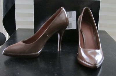 NIB Victoria's Secret $88 Brown Stiletto Platform Classic Pumps 9
