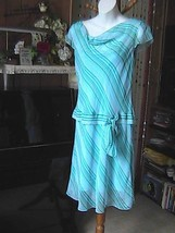 Sangria Petite Stripe Blue Summer Dress - $10.00
