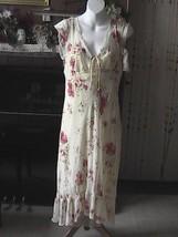 Rampage Cream Color Flower Summer Dress - $15.00