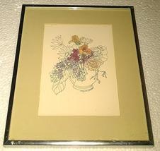 "1975 Mary Lou Goertzen ""Mother's Day bouquet"" litho portal pub. print 75... - $142.89"