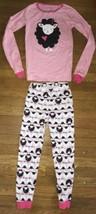 * Childrens Place pink sheep pajamas long sleeve set pj jammies size 8 - $7.92