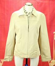 Ann Taylor Womens Front Zip Blazer Jacket Size M Corduroy Career - $18.70
