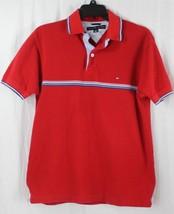 Tommy Hilfiger Hombre Algodón Rojo Polo de Manga Corta Camiseta TALLA S/P - $17.46