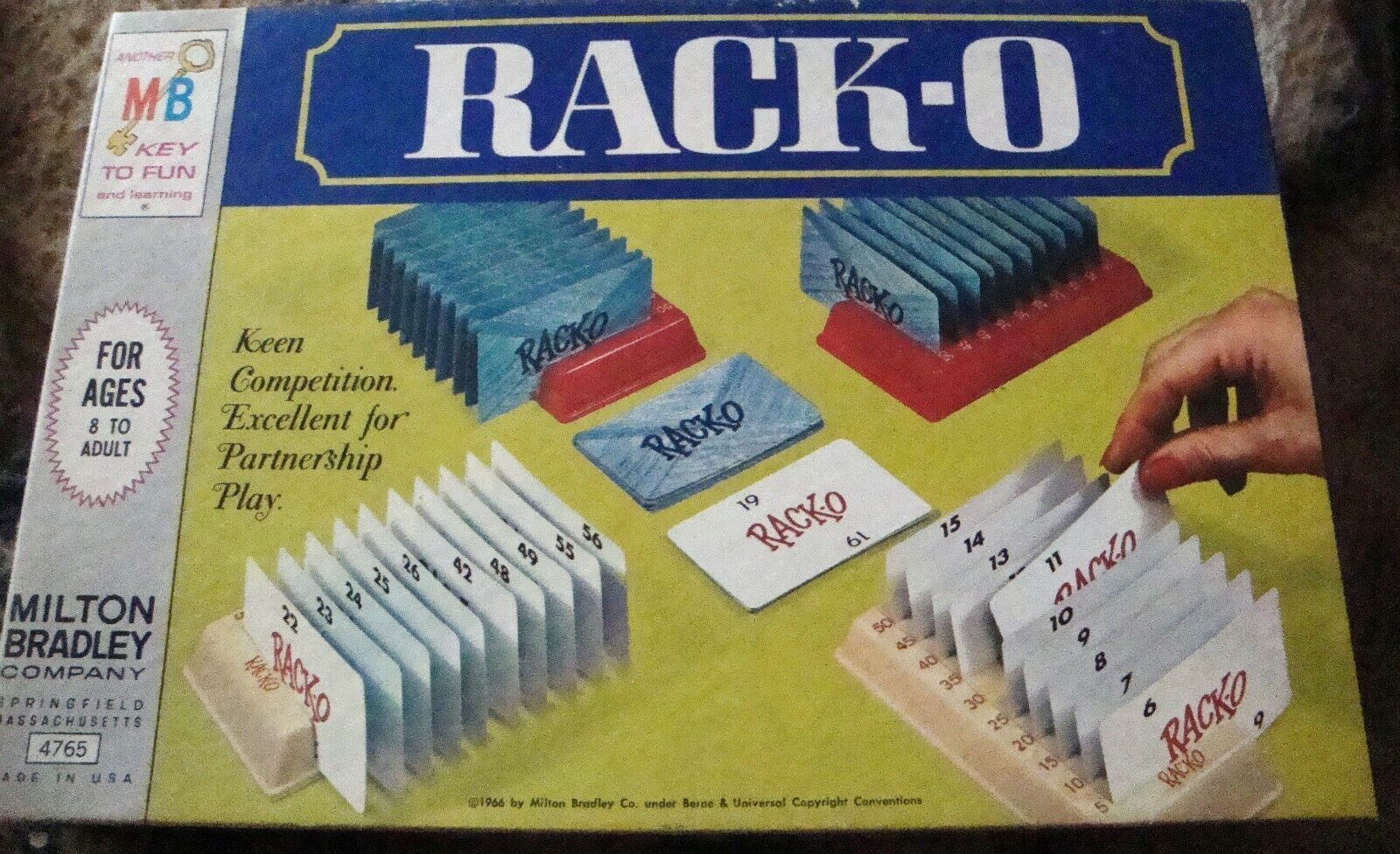 Primary image for RACKO Card Game Vintage - 1966 - Complete