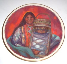 1976 GORHAM RENA DONNELLY MOTHER & CHILD APACHE PLATE - $142.89