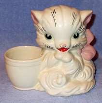 Vintage Hull Pottery Cat Kitten Planter 61 - $12.95