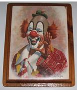 1979 Arthur Sarnoff  Ringo the Clown Litho Print on Wood Wall Board - $64.96