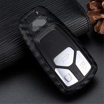 M.JVisun Soft Silicone Rubber Carbon Fiber Texture Cover Protector for Audi, Car image 6