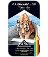 Prismacolor 12 Watercolor Water-Soluble Colored Pencils in Tin Box - $16.95