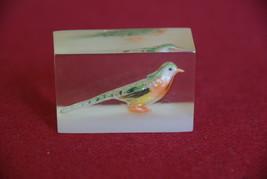 Bird Cast Acrylic Resin Cube  - $15.00