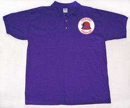 Stand Proud In Support Purple Polo Collar Shirt For Red Hat Ladies Of Society - $19.49