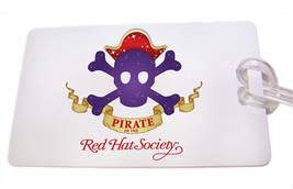 S15 RED HAT SOCIETY LICENSED WHITE LUGGAGE TAG & STRAP FOR TRAVELING RED... - $5.24