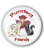 PURSE MIRROR ORGANZA BAG PURRRFECT FRIENDS CAT HAND DRAWING LADIES OF SO... - $7.91