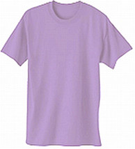 Plain Lavender T Shirt 50/50 Sz Small For Red Hat Ladies Of Society Casual Dates - $8.90