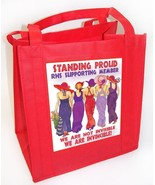 """COTTON/POLY TOTE 12X12 8"""" STAND PROUD DESIGN FOR RED HAT LADIES OF SOCIETY - $7.92"""