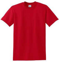 Plain Red T Shirt 50/50 Cotton Blend 4 X For Red Hat Ladies Of Society Birthday - $11.13